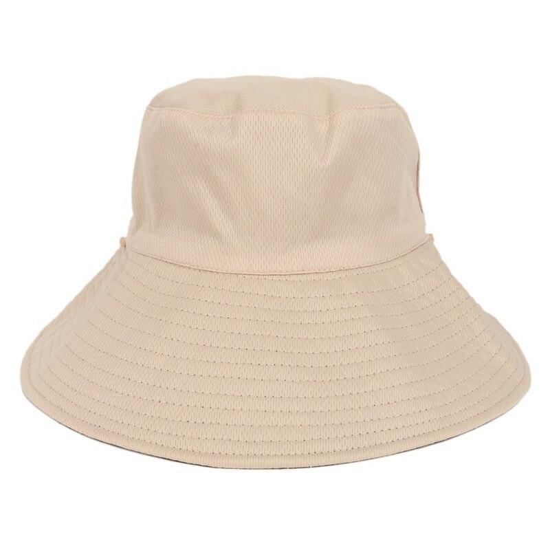 Hot Outdoor Women Bucket Hats Men Women Adult Flat Top Beach Camping Picnic Female Fisherman Golf Cap Travel Apparel Accessory in Beach Caps from Sports Entertainment