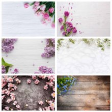 Photography Backgrounds Pink Flowers Wood Computer Printed Backdrop for Lovers Valentines Day Birthday Photobooth Fond Photo