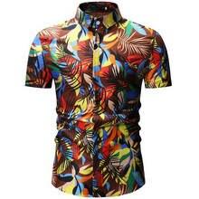 2020 New Summer Mens Short Sleeve Beach Hawaiian Shirts Casual Floral Regular Plus Size 3XL clothing Fashion