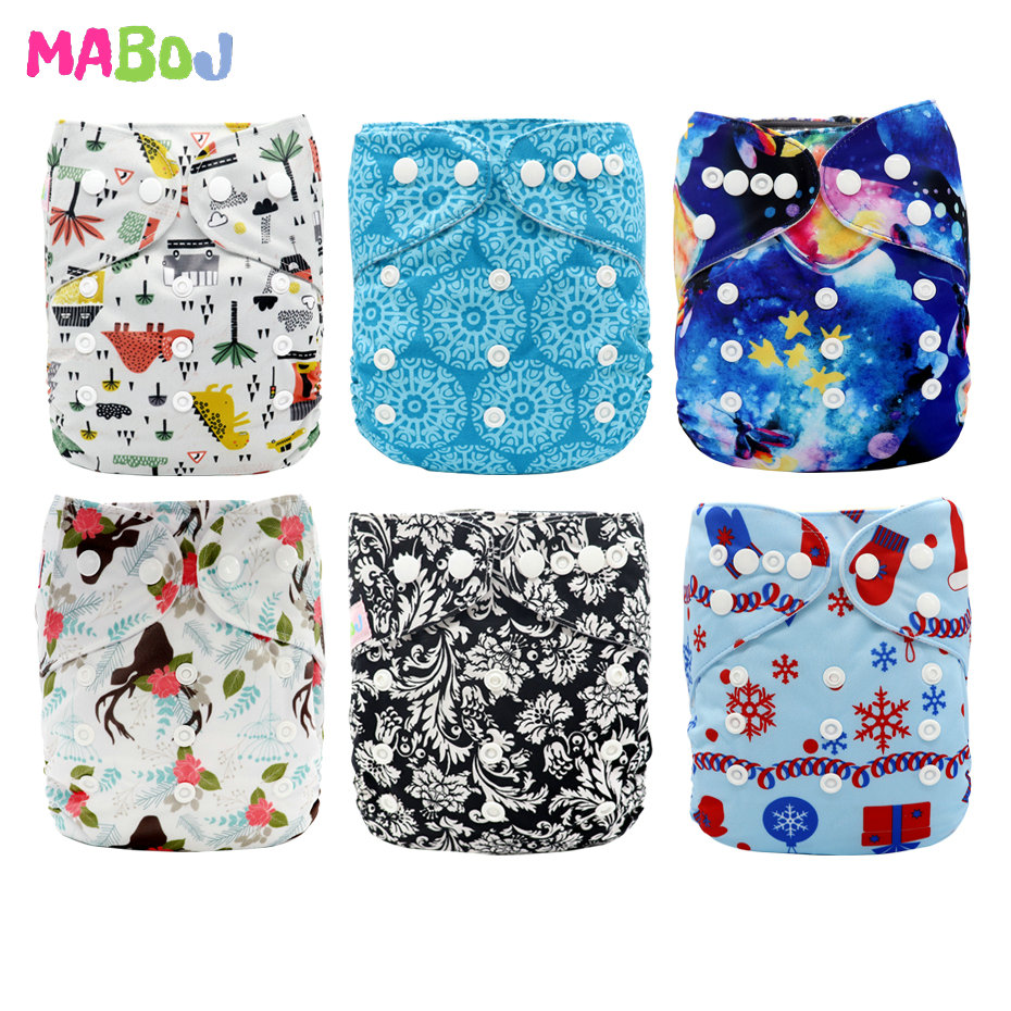MABOJ Cloth Diapers Baby One Size Reusable For Girls And Boys Gift Set Wholesale Dropshipping Cloth Nappy Pocket Cloth Diaper