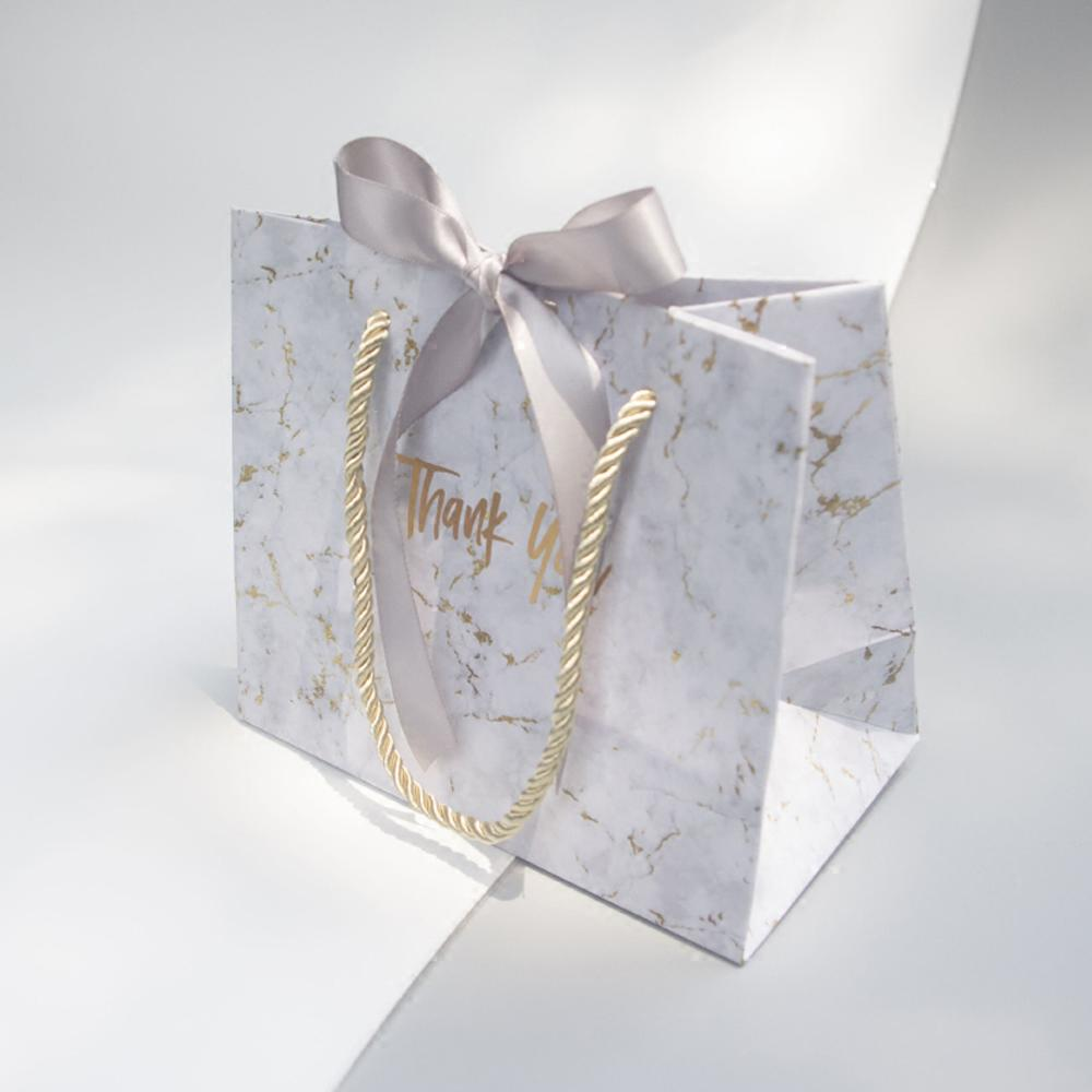 New Creative High-quality Grey Marble Gift Bag for Christmas/wedding/Baby Shower/Birthday Party Favors Gift Packaging Box