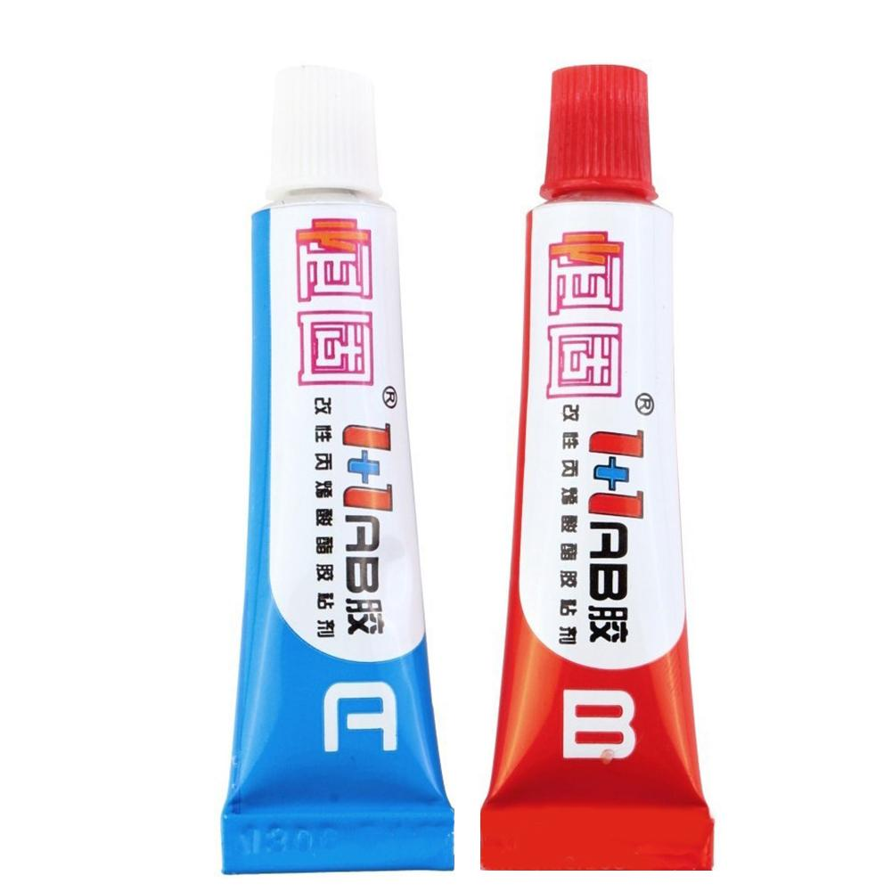 1 Pair Multi-purpose Strong Adhesive A B Epoxy Resin Glue for Plastic Metal Ceramic Quick-Drying Acrylic Structural Adhesive