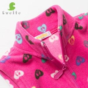 Image 3 - SVELTE Gilet en molleton pour filles, Gilet imprimé en laine pour garçons, Gilet Enfant, automne hiver