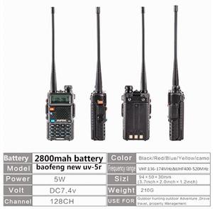 Image 2 - 2020 Baofeng UV 5r walk talk 2800MAH baufeng 5w walkie talkie 10 km vhf uhf radio station mobile dual band ham radios woki toki