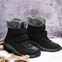 2019 winter high plus velvet warm cotton shoes woman outdoor s non slip thickening female snow boots large size short boot
