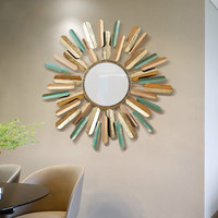 Wall mounted European restaurant porch wall mirror simple living room iron wall decoration pendant WY32513
