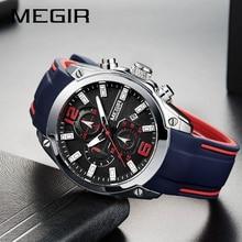 Top Luxury Brand MEGIR Men Sports Watches Men's Quartz Military Analog Clock Man