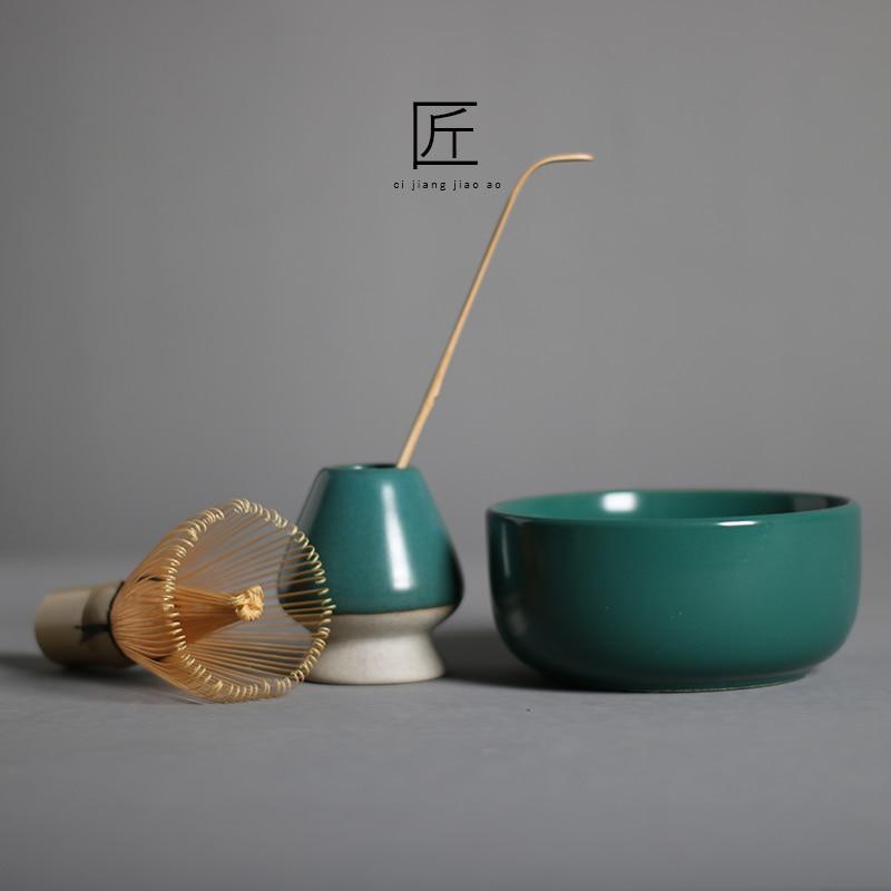 Маття комплект Бамбук веничек для чая «маття» японские Кисточки Профессиональный Зелёный чай венчик для пудры Chasen чайной церемонии кисть и...