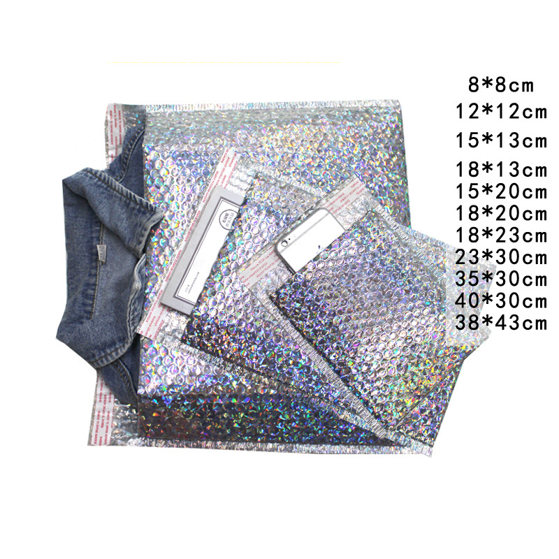 atacado laser prata cd cvd embalagem envio bolha mailers papel acolchoado envelopes saco de presente bolha