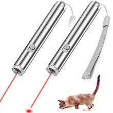 3 In 1 Mini Red Laser Pointer Flashlight LED Flashlight Pen Tool for Cat Chase Training Toys Laser Pointer Pen cheap 1-5mW Laser Sight LED Laser Pointer