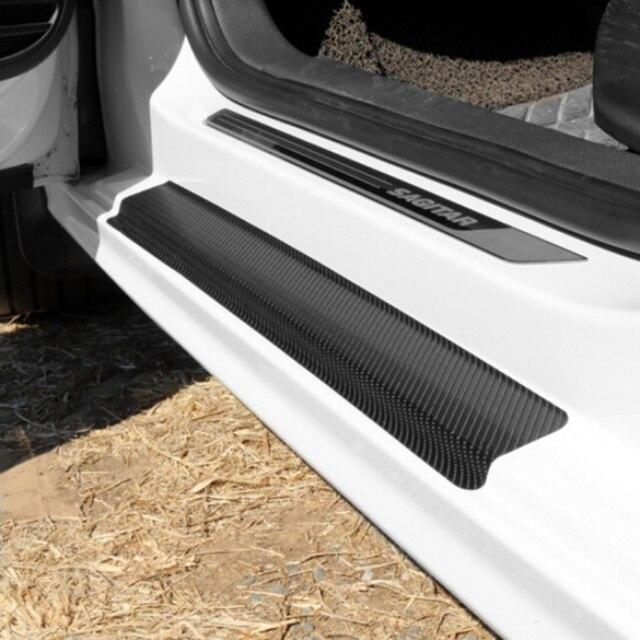 Universel noir protecteur seuil de seuil de protection voiture porte plaque autocollant pour Mercedes Benz A180 A200 A260 W203 W210 W211 AMG W204 C E S