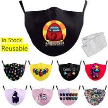 Máscara protetora entre nós máscara de impressão à prova de poeira máscara de boca reutilizável lavável tecido máscaras faciais para crianças adulto algodão máscara