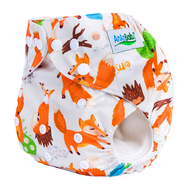 100Pcs/Lot Digital Print Wholesale Washable High Quality Baby Diaper Without Insert Suit 3-15KG And You Can Choose A Suit