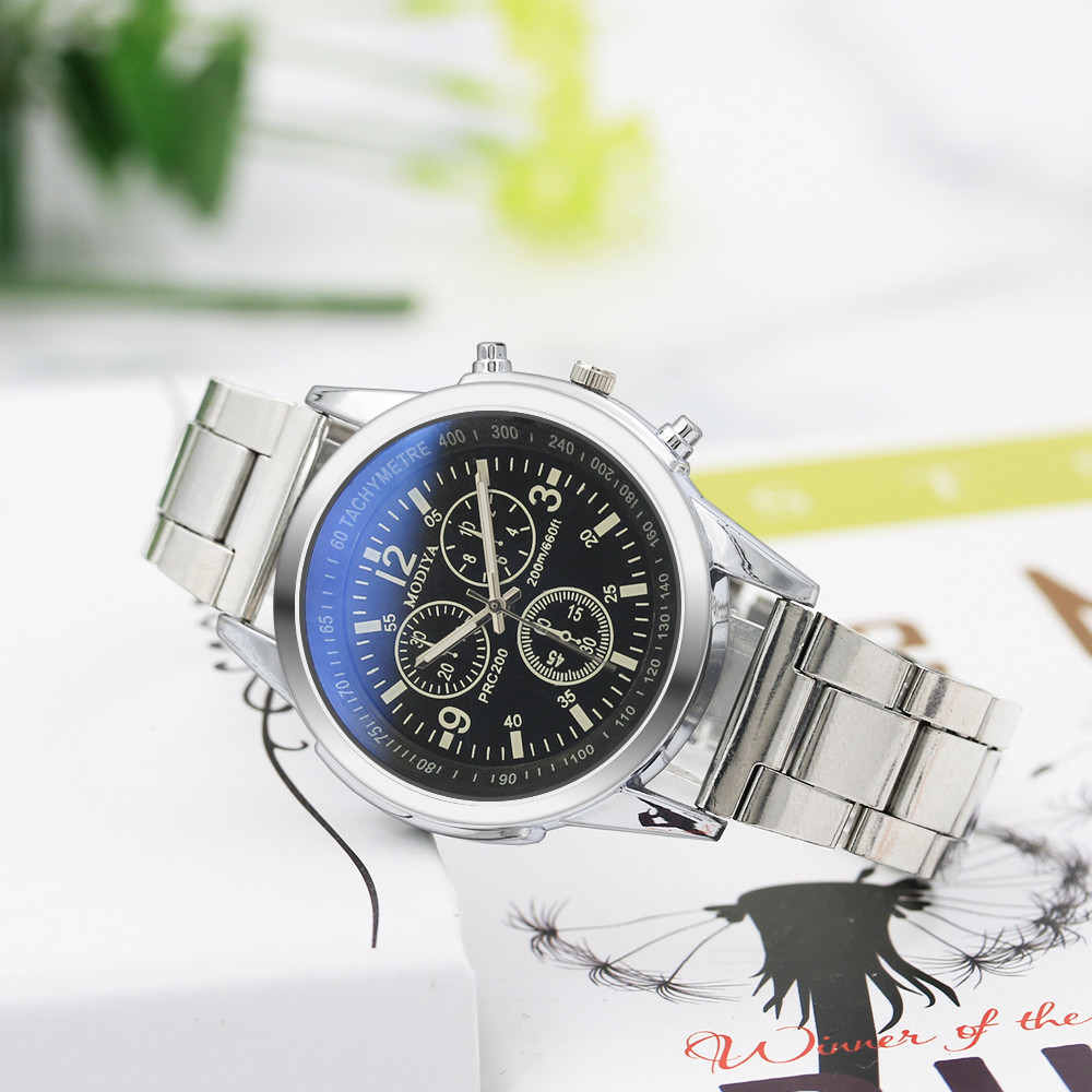 Luxury Brand Watch Men Stainless Steel Casual Watch Male Quartz Hour Wrist Analog Watch Relogio Masculino Erkek Kol Saati