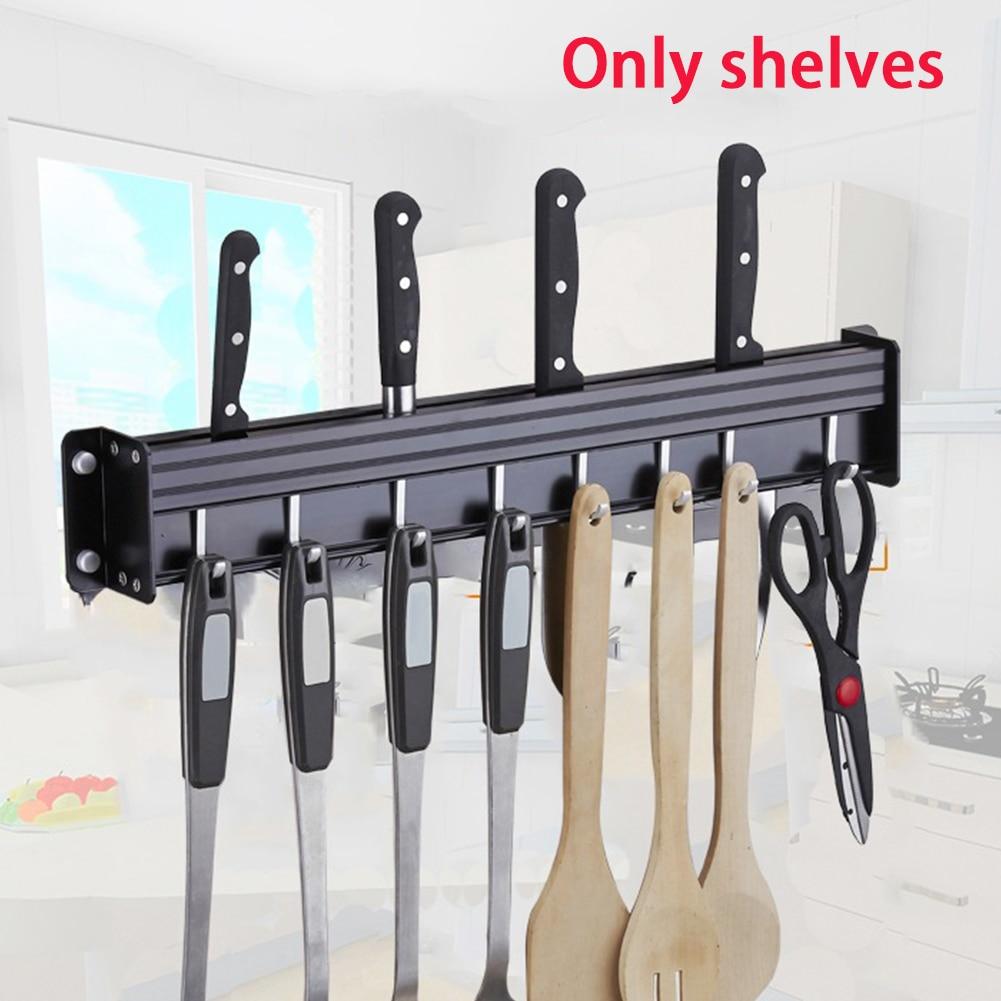 Wall Mounted No Drilling Kitchen Cabinet Accessory Multifunctional Storage Rack Shelf Seasoning Bottle Pantry With Hook Utensil