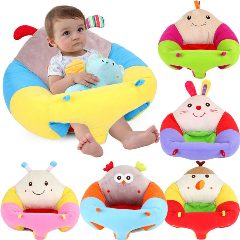 Cute Portable Baby Support Seat Learn To Sit Up And Play Soft Chair Cushion Cover Plush Pillow Toy