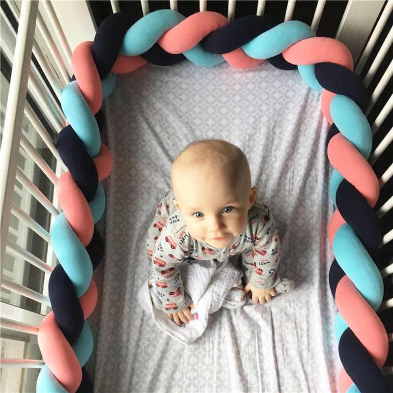 Diseño de Moda 1 m, decoración para habitación de niños, Bola de nudo, tira de almohada, cuna anticolisión, juego de ropa de cama antigolpes, juego de ropa de cama para bebé