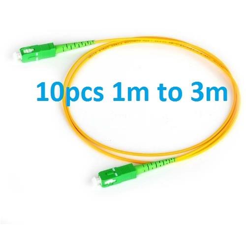 SC APC Patchcord 1m To 3m Optical Fiber Patch Cord 2.0mm PVC G657A Fiber Jumper Simplex SM FTTH Optic Cable SC APC To SC PC