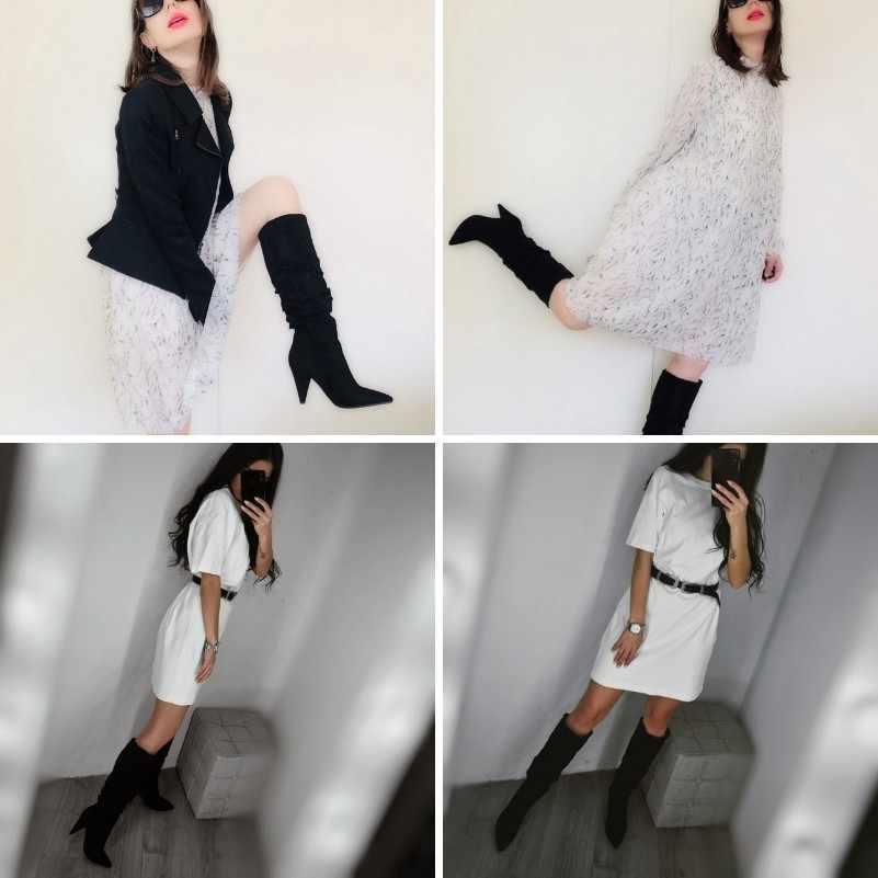 Meotina kış diz yüksek çizmeler kadın pilili başak topuklu uzun çizmeler sivri burun süper yüksek topuk ayakkabı bayanlar kırmızı boyutu 34-43
