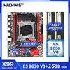 MACHINIST X99 Motherboard LGA 2011-3 kit set with and Intel Xeon E5 2630 V3 Processor DDR4 16GB (2*8) RAM Memory M-ATX X99-RS9 1