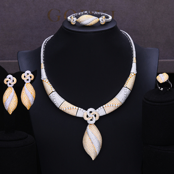 4Pc Choker Jewelry Set