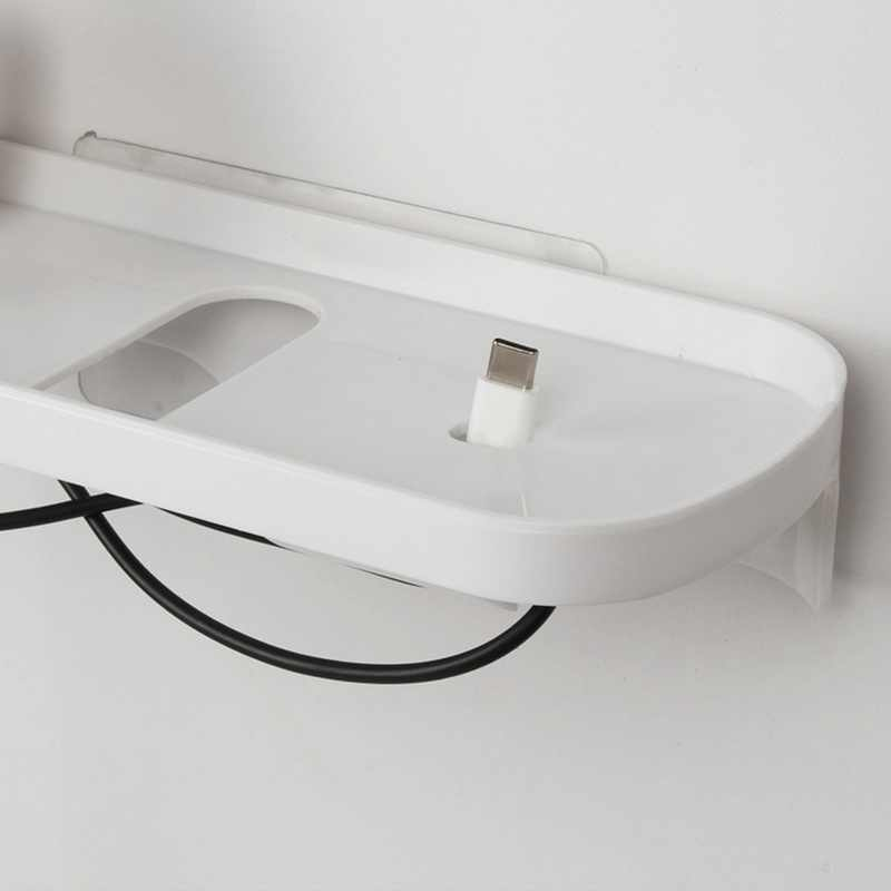 مقبس الجرف منفذ الرف المنظم رف معلق على الحائط البلاستيك لشحن هاتف محمول