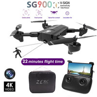 SG900 Drone 4K Dual Camera Selfie WiFi FPV Foldable Profissional Foldable RC Quadcopter Helicopter aerial camera Toy For kids