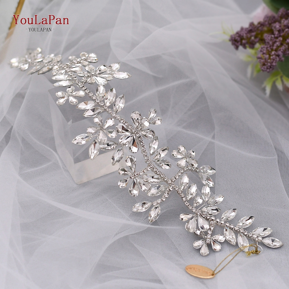 Купить с кэшбэком YouLaPan SH239 Wedding Belt Silver Rhinestone Belt Wedding Dress Belt for Girlfriend Gift Bridal Party Dress Belt Diamond Belt