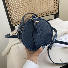 Small Round Shoulder Bag for Women 2020 PU Leather Crossbody Bag Fashion Ladies Trend Summer Handbag and Phone Purses with Totes cotton floral print women handbag wood handle cltuch totes ladies hand bag famous brand vintage female bag summer women purses