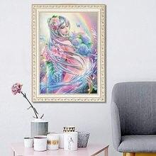 Алмазная живопись 5d diy девушка напечатана вышивка крестиком