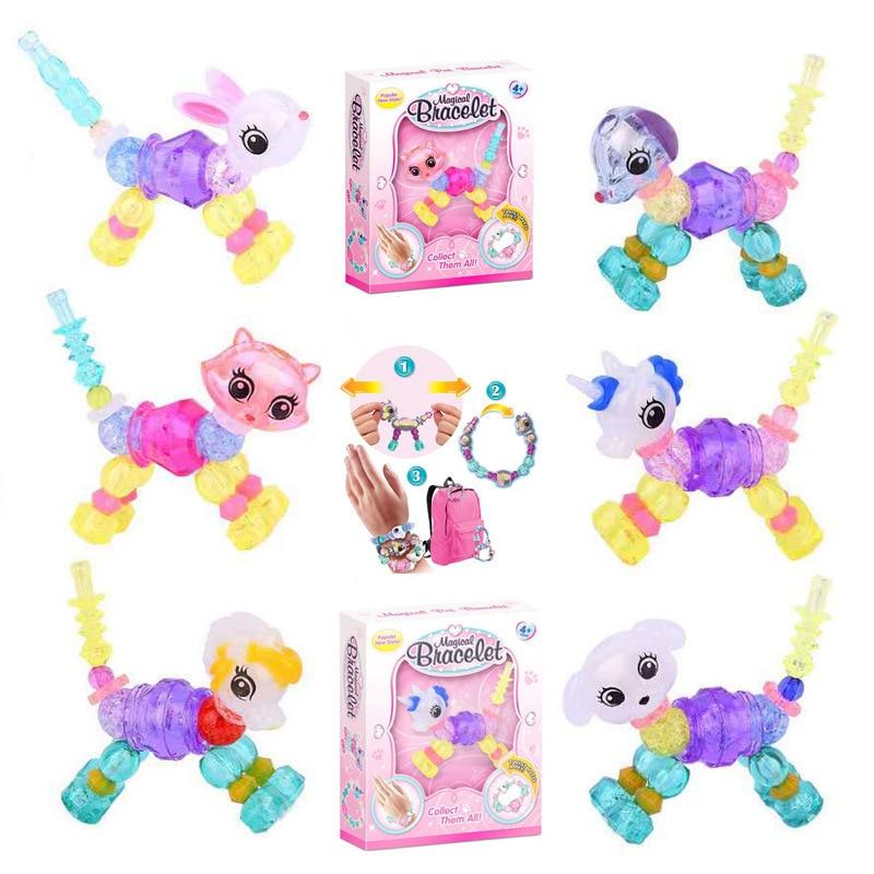Surprise Chain Elves Children's Toys Handmade Beads Magical Diy Magic Animal Variety Bracelet Funny Gadgets Education Gift