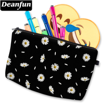 Deanfun Women Fashion Cosmetic Bags 3D Printed Daisy Pattern