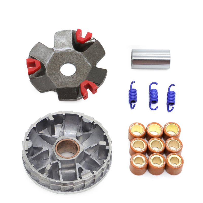 For GY6 50cc High Performance Racing Variator Kit w/ Roller Weights Driving Pulley For GY6 50cc 139QMB 139QMA Dio 50cc Scooter