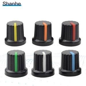 12pcs 6mm Shaft Hole Dia Potentiometer Pot Knobs Caps(China)