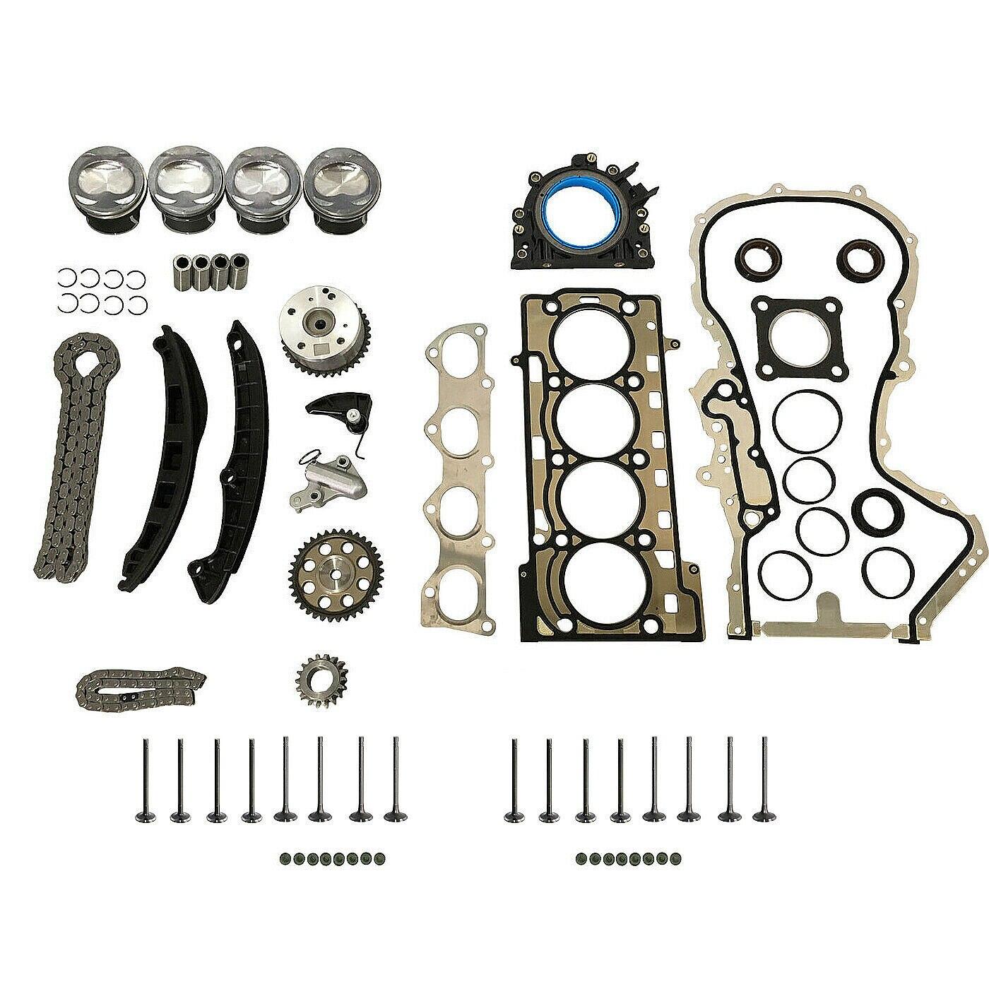 AP01 Kit de réparation moteur Pistons STD + Kit de chaîne de distribution + joints de tête pour Audi A3 A1 VW EOS coccinelle SCIROCCO CC 1.4 TSI