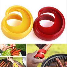 ANGRLY ручной причудливый спиральный горячий спиральный резак для хот-догов, слайсер, инструменты для барбекю, Ланч-бокс, японский нож, обеденные тарелки, инструмент для нарезки колбасы