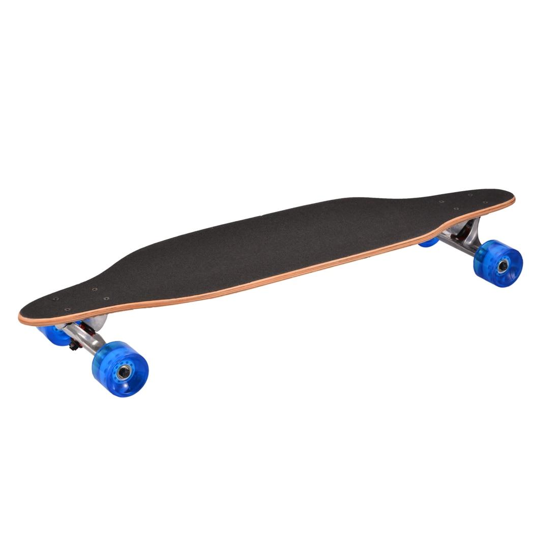 Nuevo fresco 4 ruedas tabla larga Skateboard deporte impreso Arce carbono acero Longboard adulto estudiante calle estilo Tabla de patín - 5