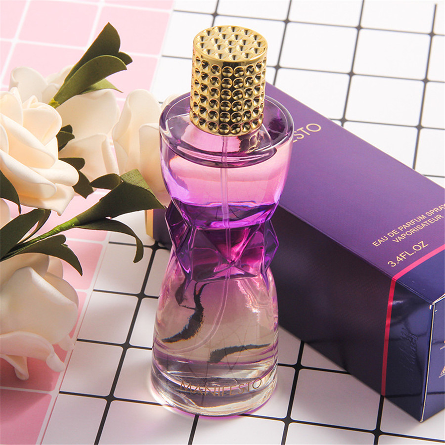 100ml Perfume Women Long Lasting Atomizer Glass Bottle Lady Flower Fragrance Spray Scent Parfum Antiperspirant