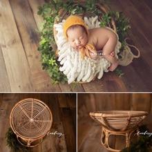 Newborn Photography prop frame baby basket baby full moon photo children's studio weaving rattan basket