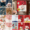 Japanese Door Curtain For living Room Bedroom kitchen Linen Fabric for Curtains Cartoons Cat Decoration Customizable Curtains