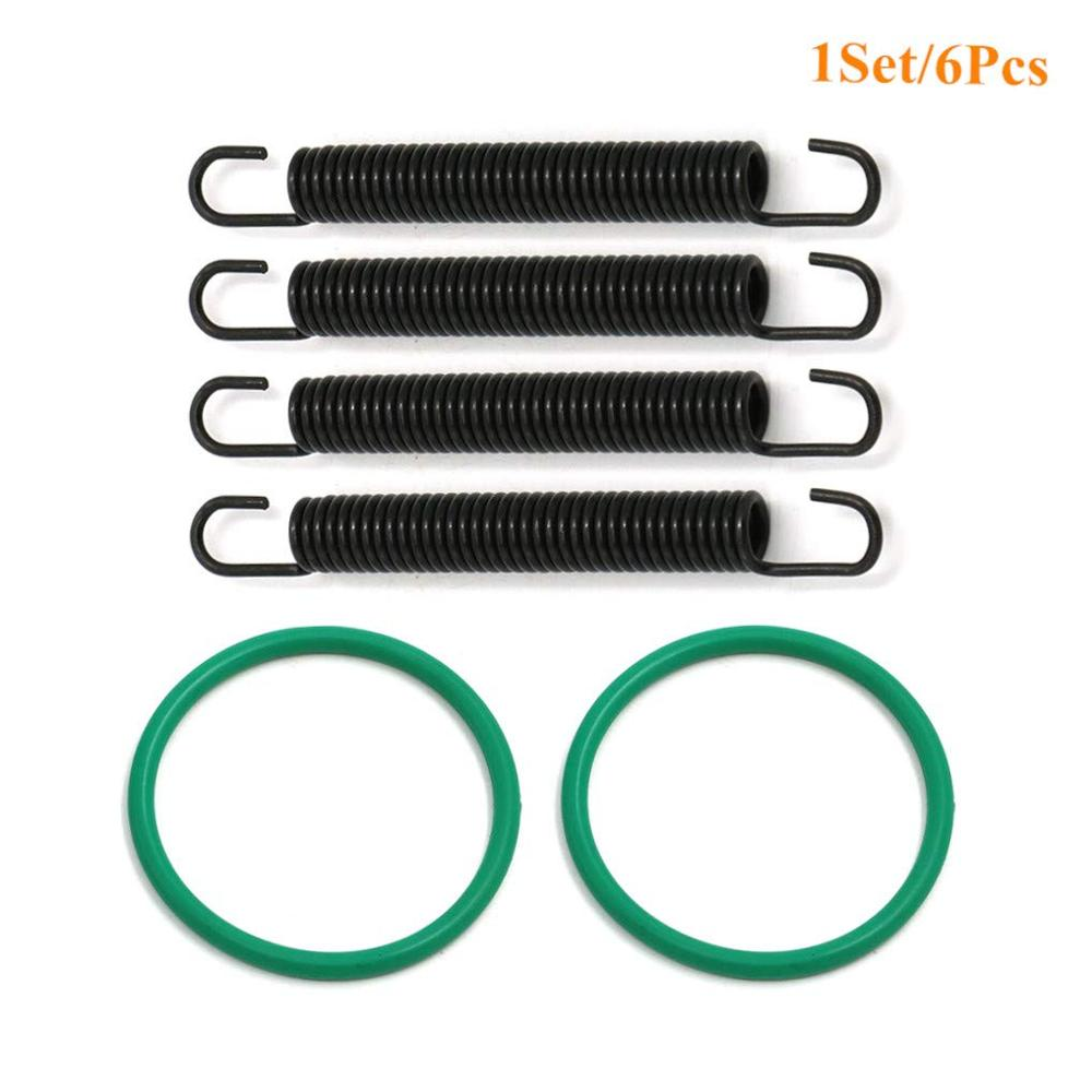 ATV Exhaust Pipe Springs Hooks O Ring Gasket Sealing Kit For Yamaha YFZ350 Banshee 350 YFZ 350 1987 - 2006 2005 2004 Exhaust Kit