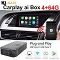 4 + 64 ГБ для Kenwood Alpine Kia Suzuki Apple Carplay AI Box Автомобильный мультимедийный плеер Mirror Link Беспроводной Carplay Android Автомобильная ТВ-приставка