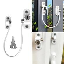 6Pcs/Set Window Locks Children Protection Lock Stainless Steel Window Limiter Baby Safety Infant Security Window Locks