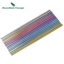 купить Boundless Voyage Colorful Titanium Square Chopsticks Camping Daily Ultralight Tableware Flatware only 15g по цене 659.98 рублей