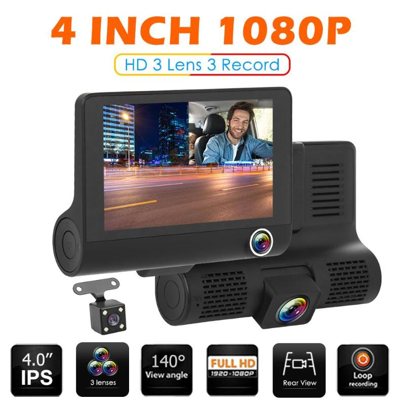 4 inch 1080P <font><b>Car</b></font> <font><b>DVR</b></font> Rearview <font><b>Mirror</b></font> <font><b>DVR</b></font> Ultra HD Night Vision with Rear View Camera Suction Cup On Front Windshield image