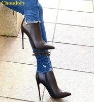 Choudory; Цвет телесный, черный, бордовый; ботильоны на шпильках наивысшего качества из матовой кожи с острым носком; модельные туфли-гладиаторы...