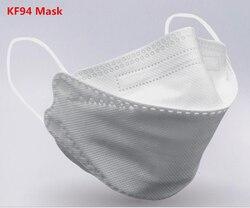 20 pcs/30 pcs di Colore Solido Viso Bocca KF94 Maschera 4Ply Non Tessuto di Sicurezza Mascarilla Antipolvo PM2.5 Batteri A Prova di earloops Maschere