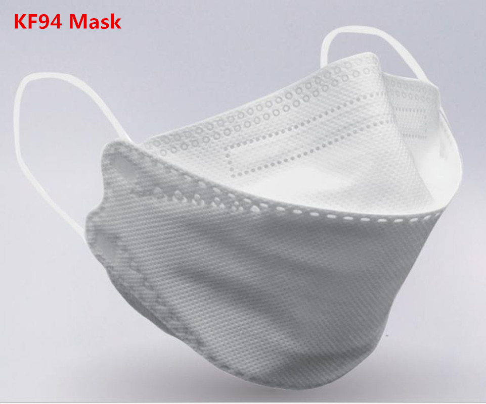 20pcs/30pcs Solid Color Face Mouth KF94 Mask 4Ply Non Woven Safety Mascarilla Antipolvo PM2.5 Bacteria Proof Earloops Masks