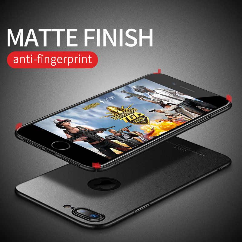 Msseven الهاتف حقيبة لهاتف أي فون X 8 7 6 6S Plus الترا سليم البلاستيك الصلب الغطاء الخلفي للآيفون 7 8 كوكه Fundas الحماية الكاملة