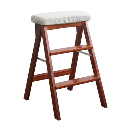 Step Stool Folding Kitchen Bench Multi-function Bench Home Solid Wood Creative High Bench Indoor Ladder Chair Bar Stool